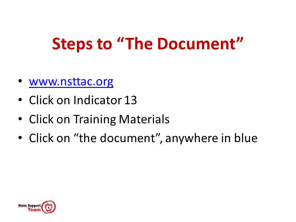 Steps to The Document