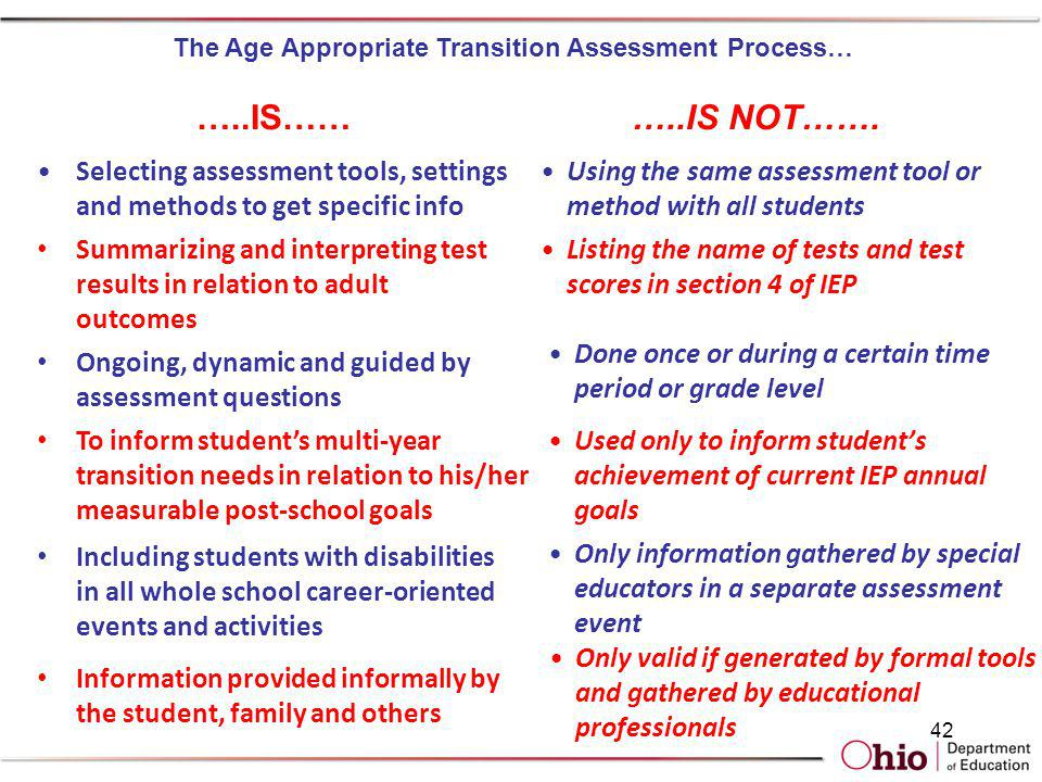 The Age Appropriate Transition Assessment Process…