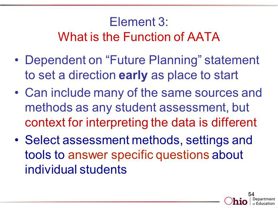 Element 3: What is the Function of AATA