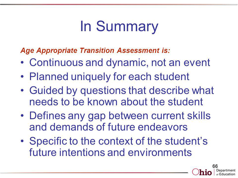In Summary Continuous and dynamic, not an event