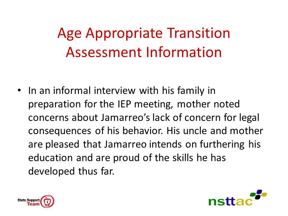 Age Appropriate Transition Assessment Information