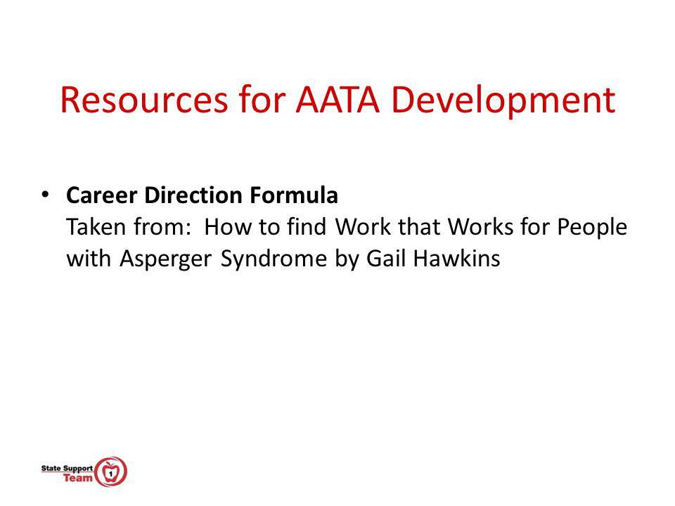 Resources for AATA Development