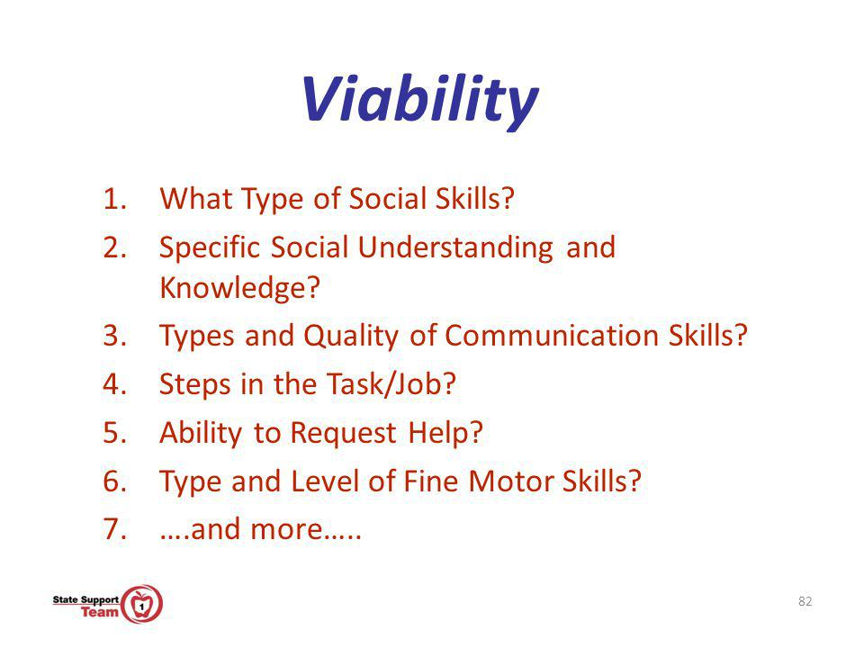 Viability What Type of Social Skills