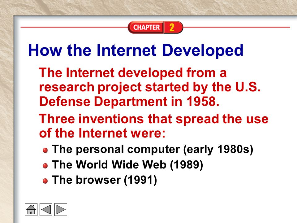 How the Internet Developed