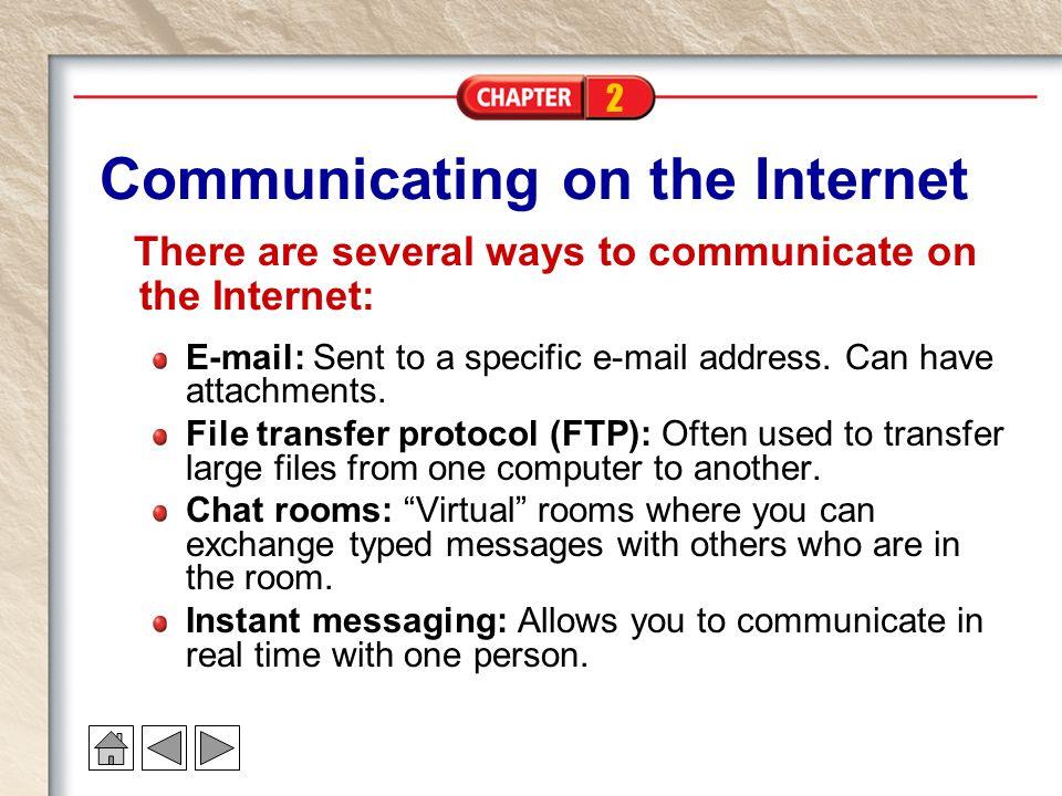 Communicating on the Internet