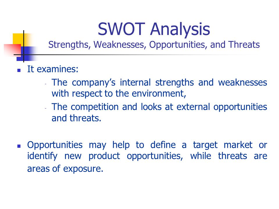 SWOT Analysis Strengths, Weaknesses, Opportunities, and Threats