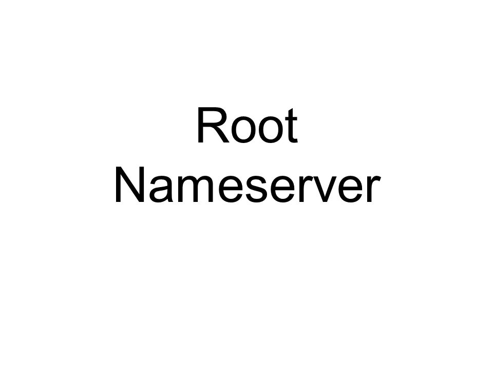 Root Nameserver