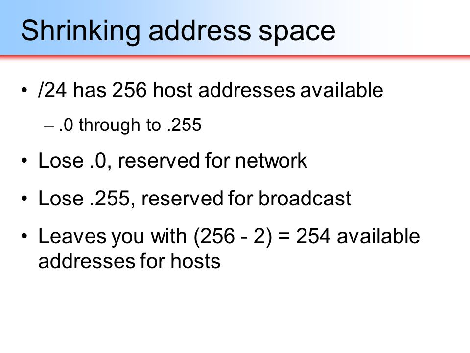 Shrinking address space