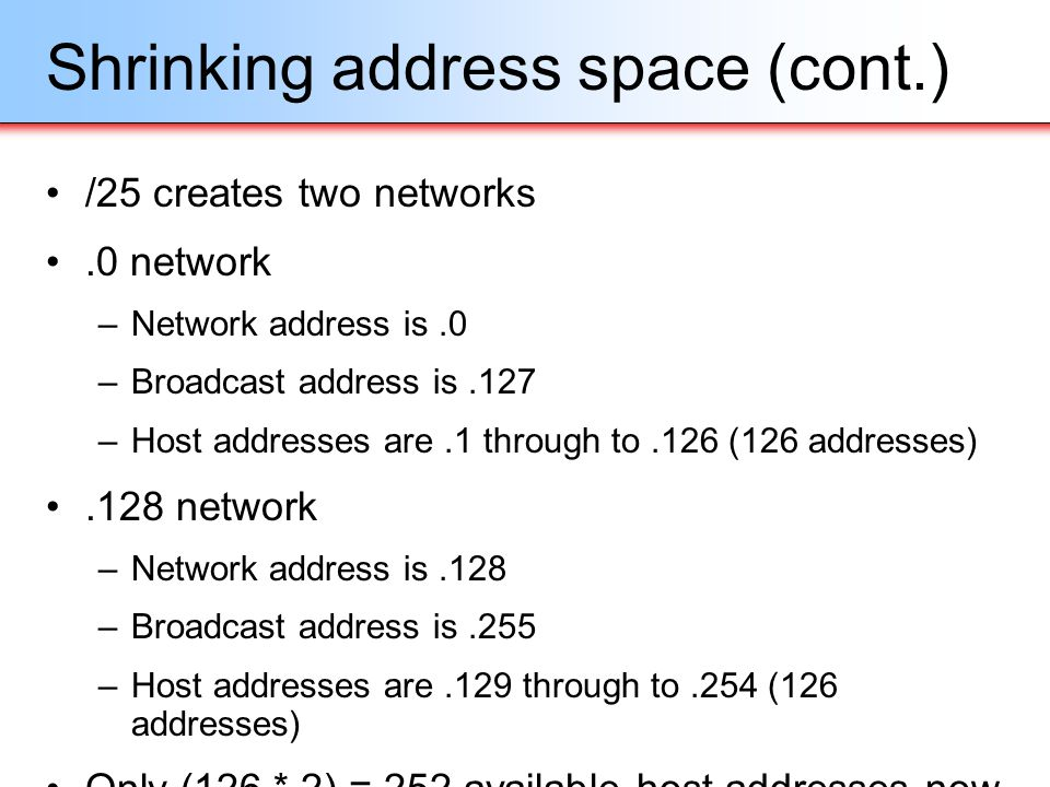 Shrinking address space (cont.)