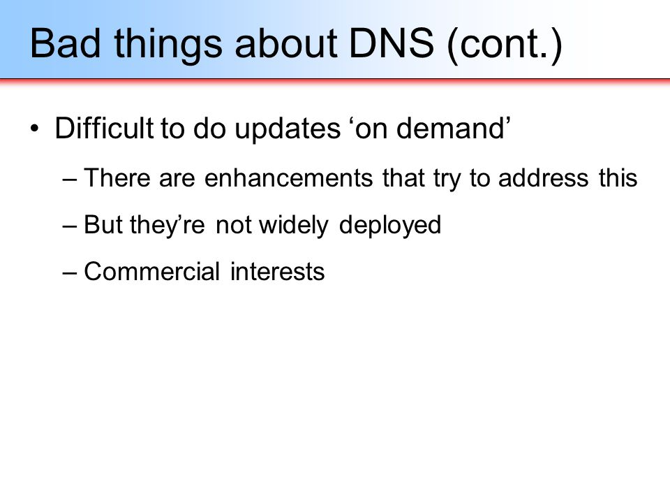 Bad things about DNS (cont.)