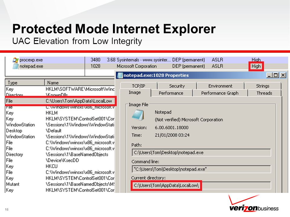 Protected Mode Internet Explorer UAC Elevation from Low Integrity