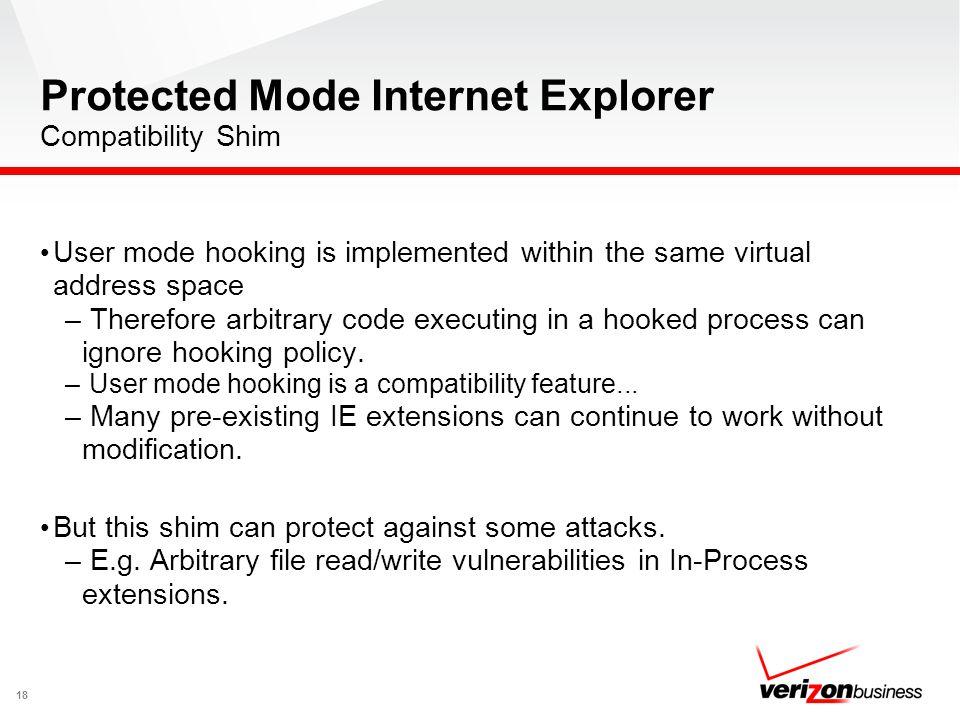 Protected Mode Internet Explorer Compatibility Shim