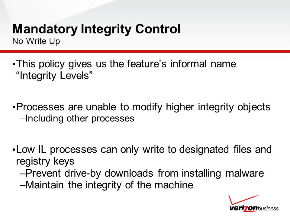 Mandatory Integrity Control No Write Up