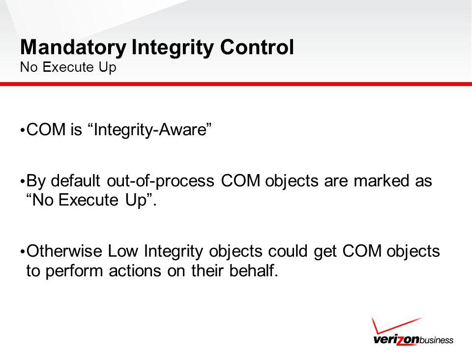 Mandatory Integrity Control No Execute Up