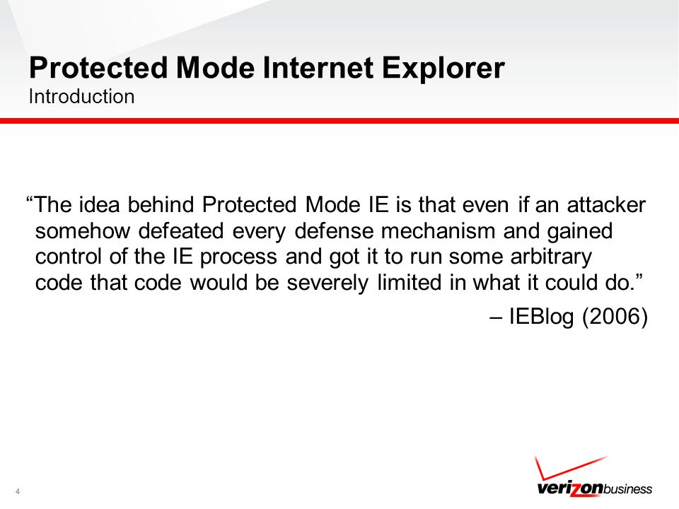 Protected Mode Internet Explorer Introduction