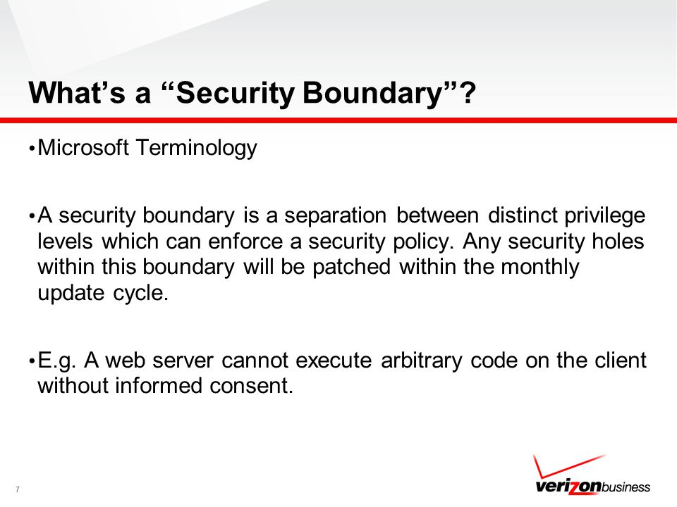 What's a Security Boundary