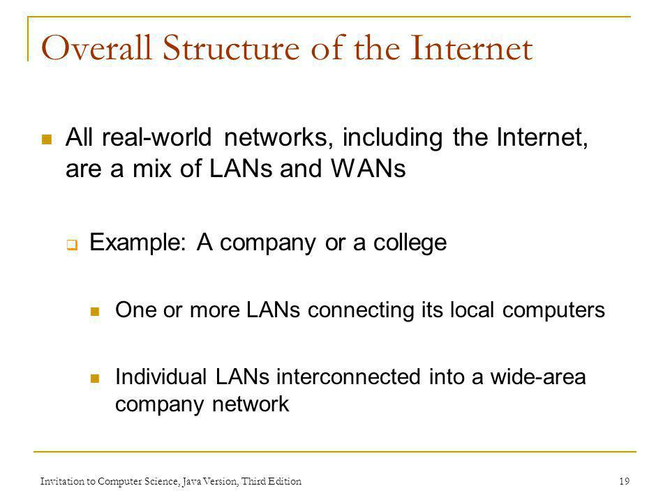 Overall Structure of the Internet