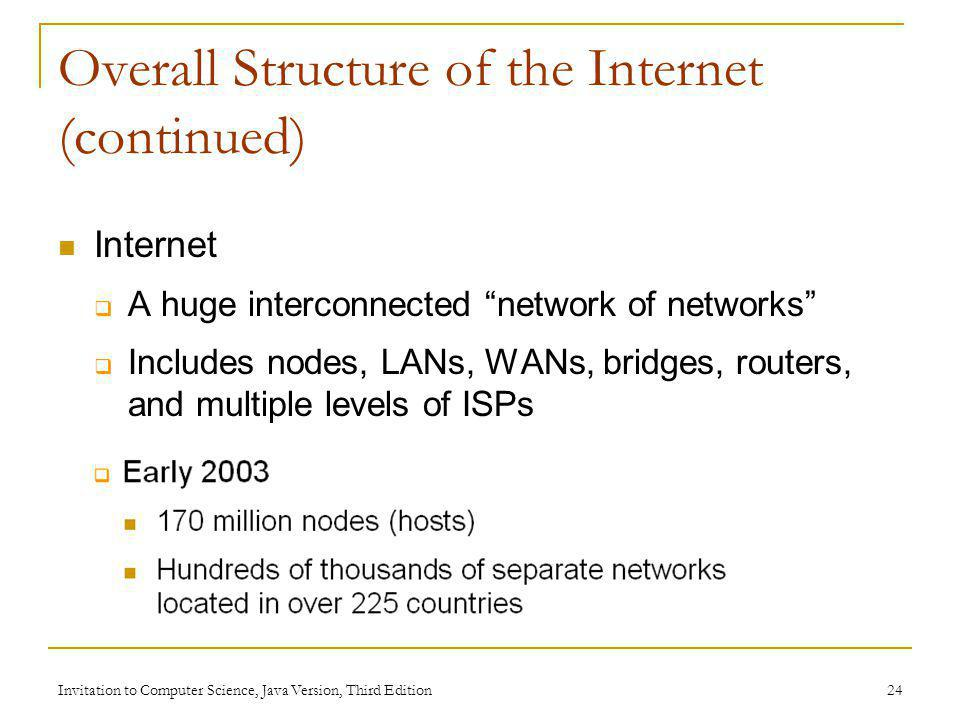 Overall Structure of the Internet (continued)