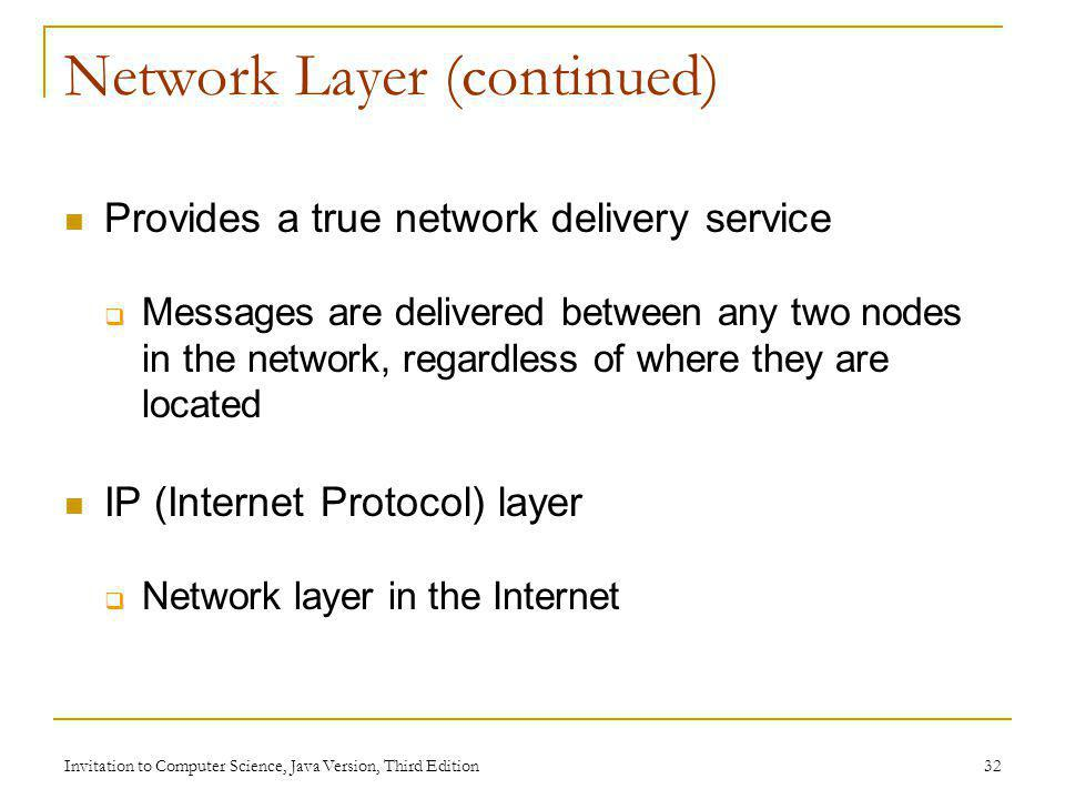 Network Layer (continued)