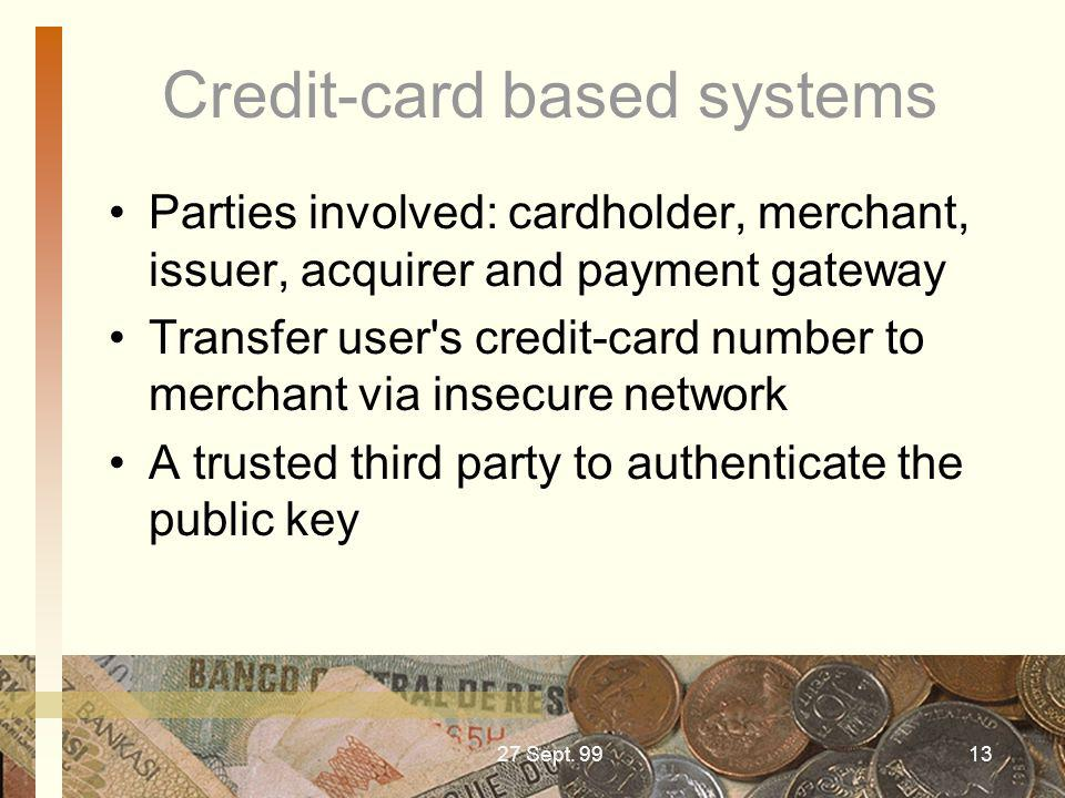 Credit-card based systems