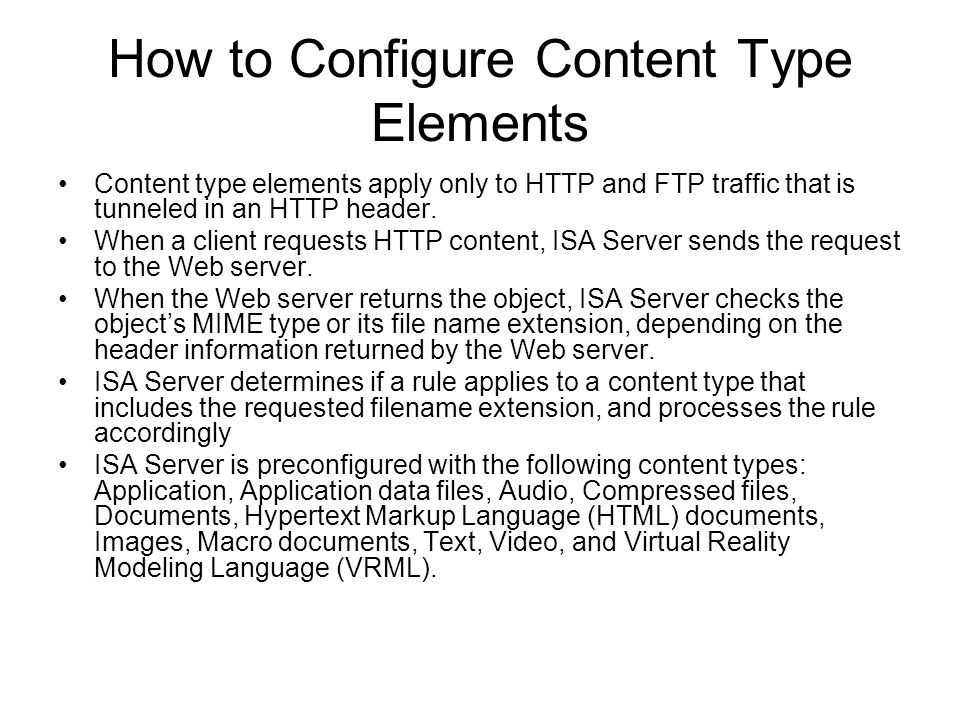 How to Configure Content Type Elements