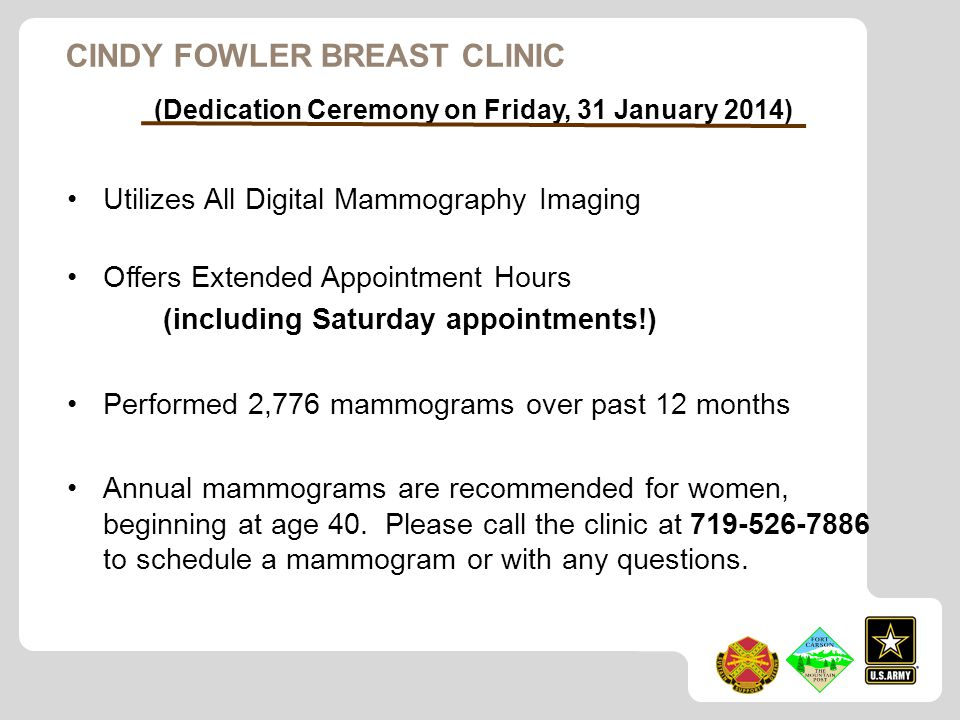 Cindy Fowler Breast Clinic