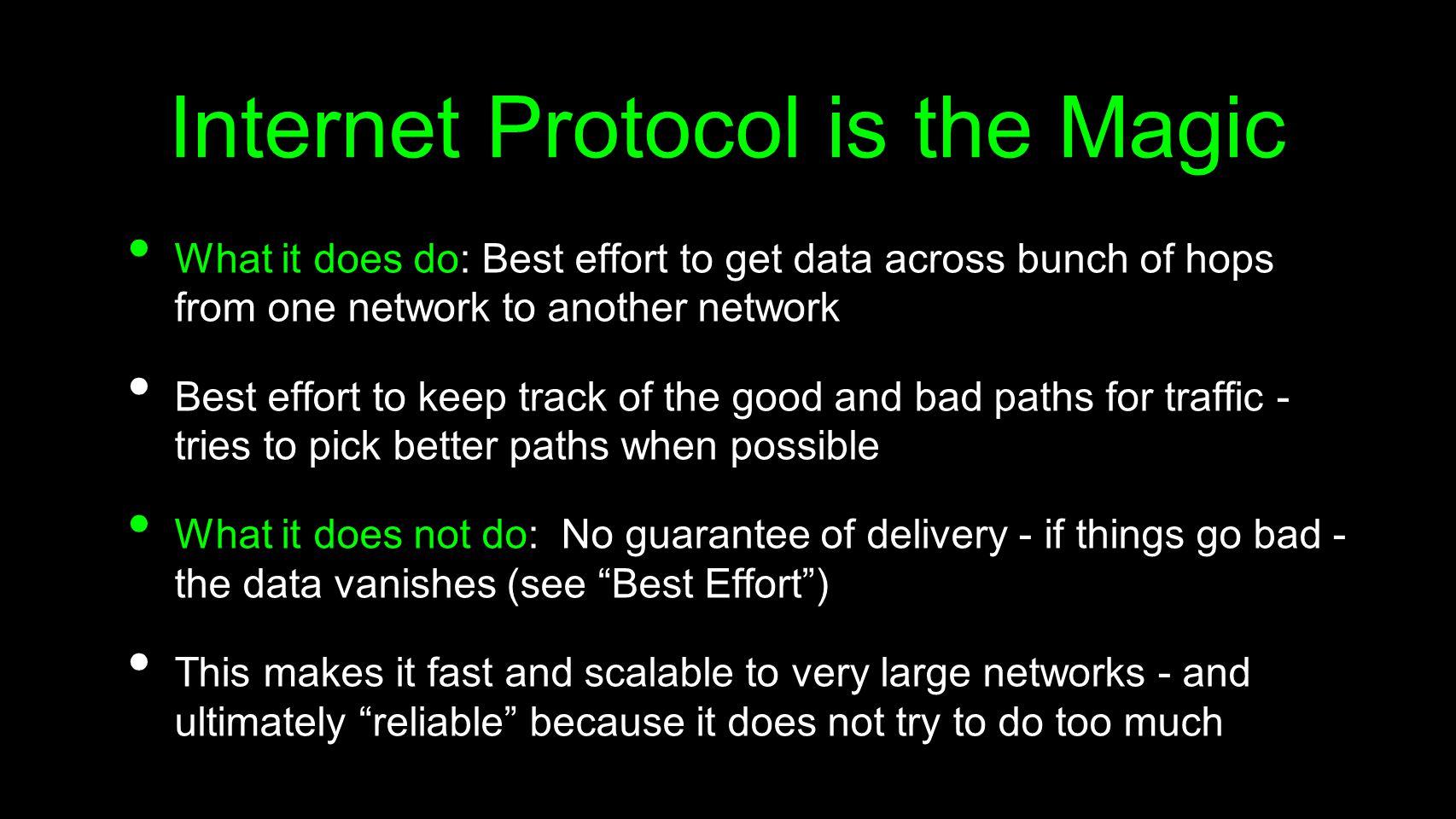 Internet Protocol is the Magic
