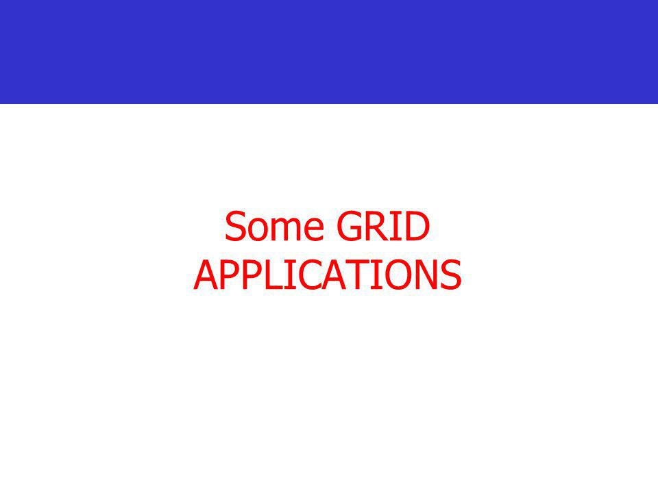 Some GRID APPLICATIONS