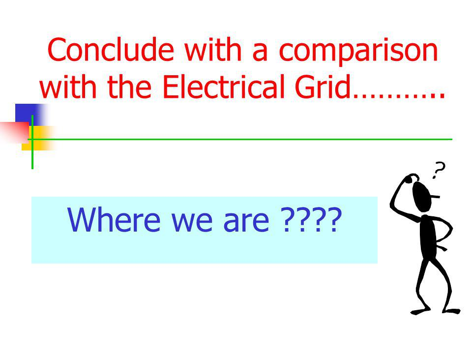 Conclude with a comparison with the Electrical Grid………..