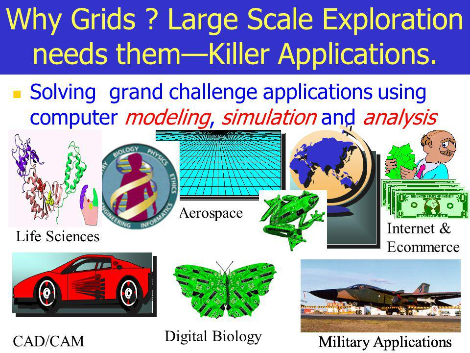 Why Grids Large Scale Exploration needs them—Killer Applications.