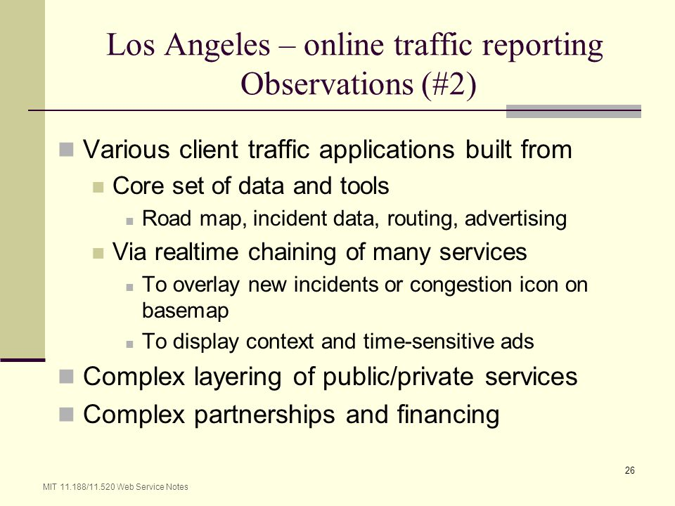 Los Angeles – online traffic reporting Observations (#2)