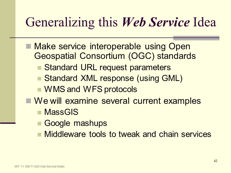 Generalizing this Web Service Idea