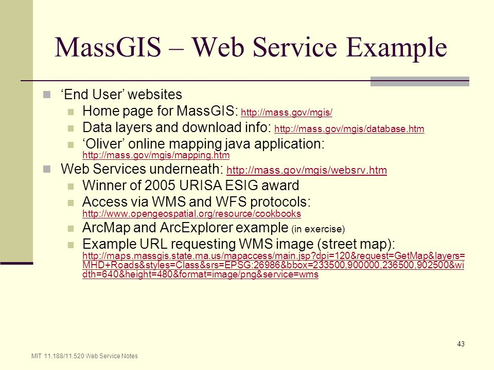 MassGIS – Web Service Example