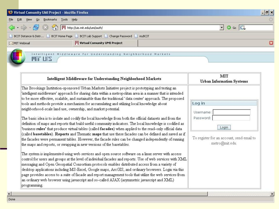 MIT 11.188/11.520 Web Service Notes