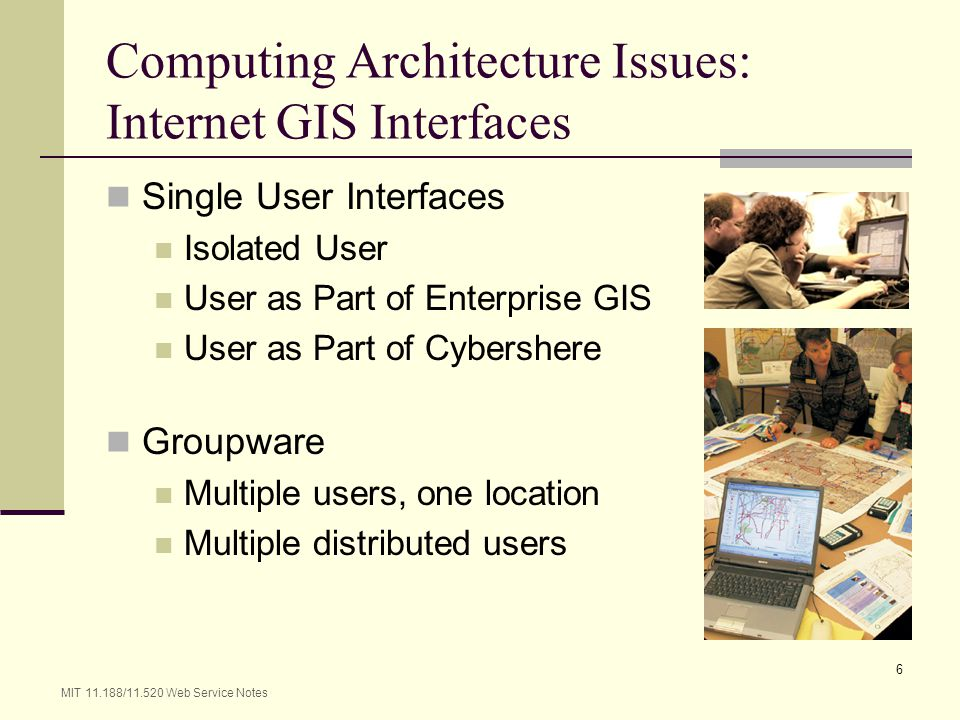 Computing Architecture Issues: Internet GIS Interfaces