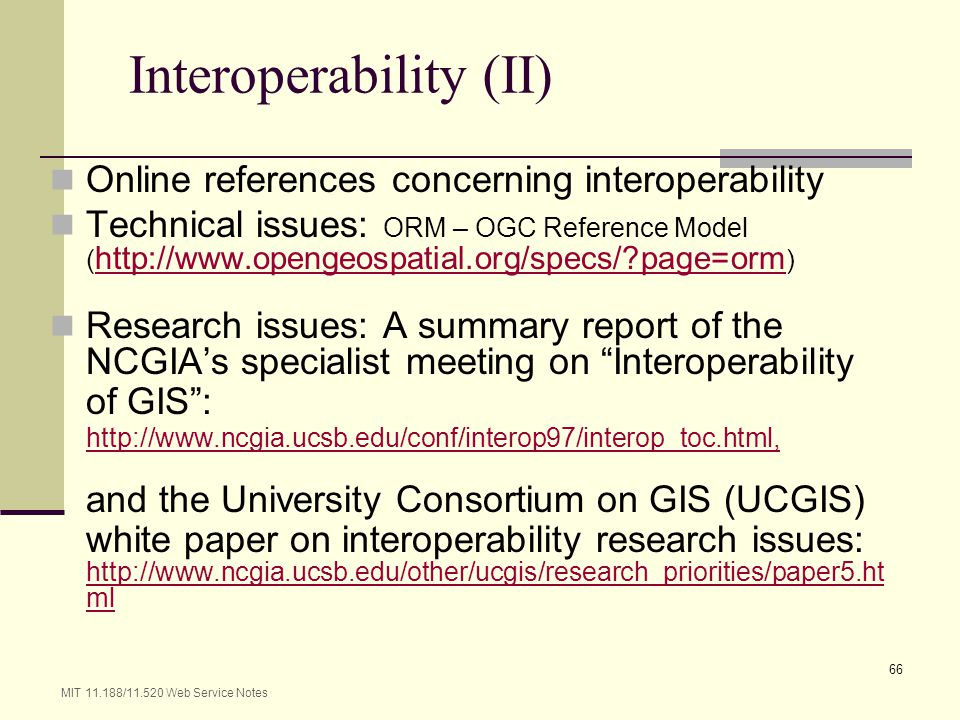Interoperability (II)