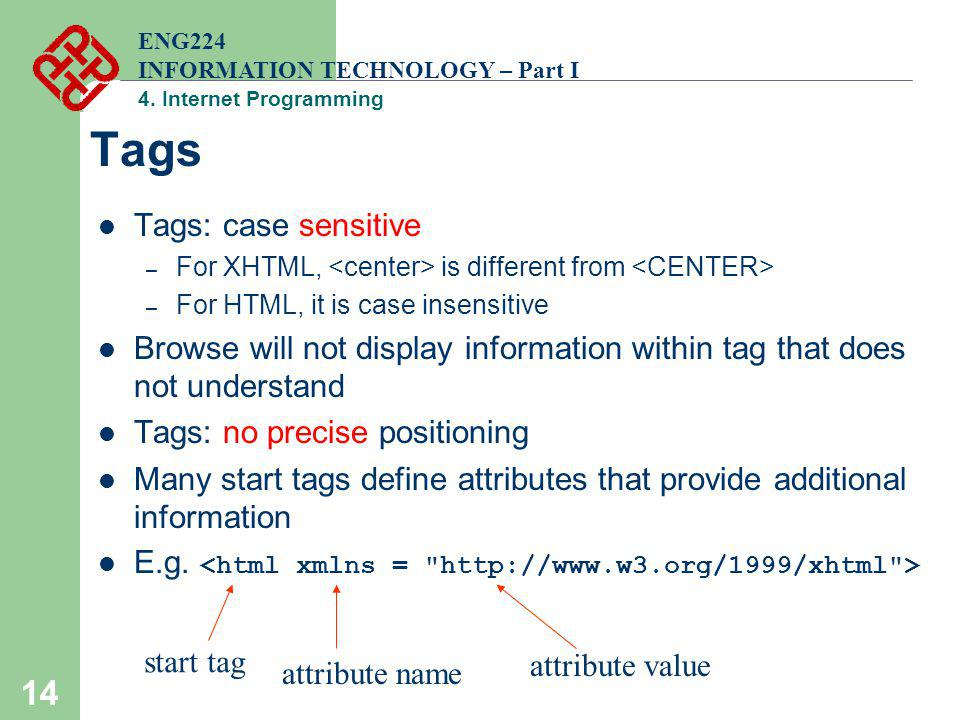 Tags Tags: case sensitive