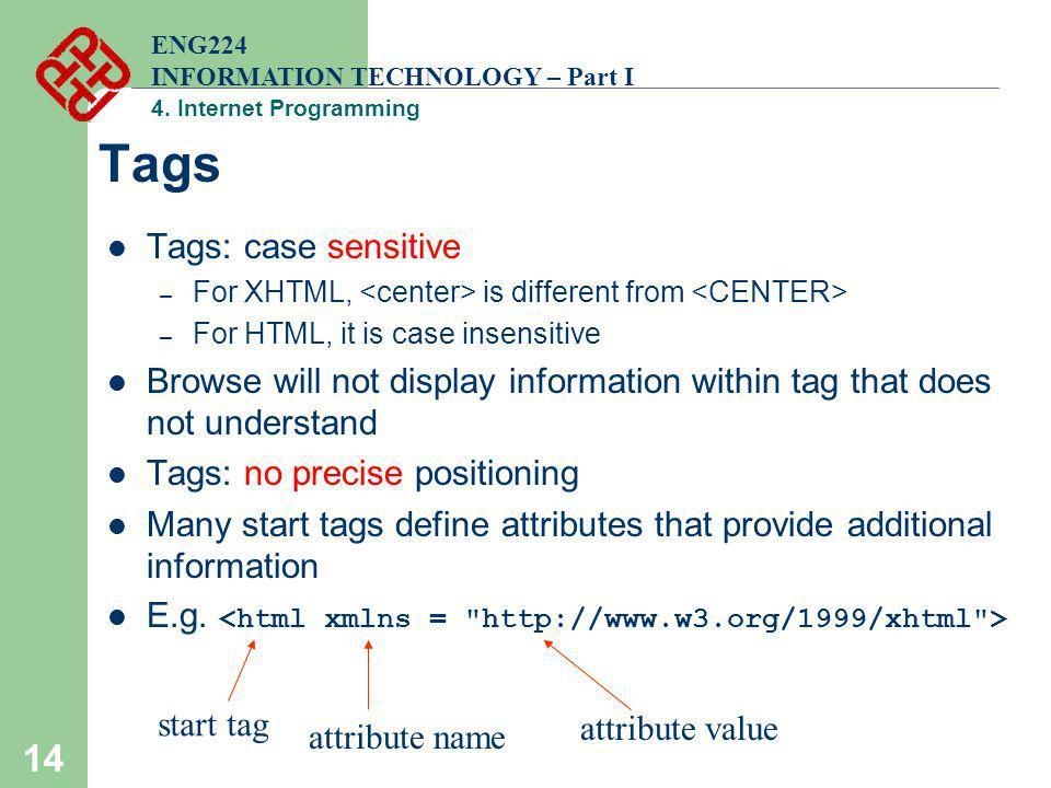 Tags Tags: case sensitive