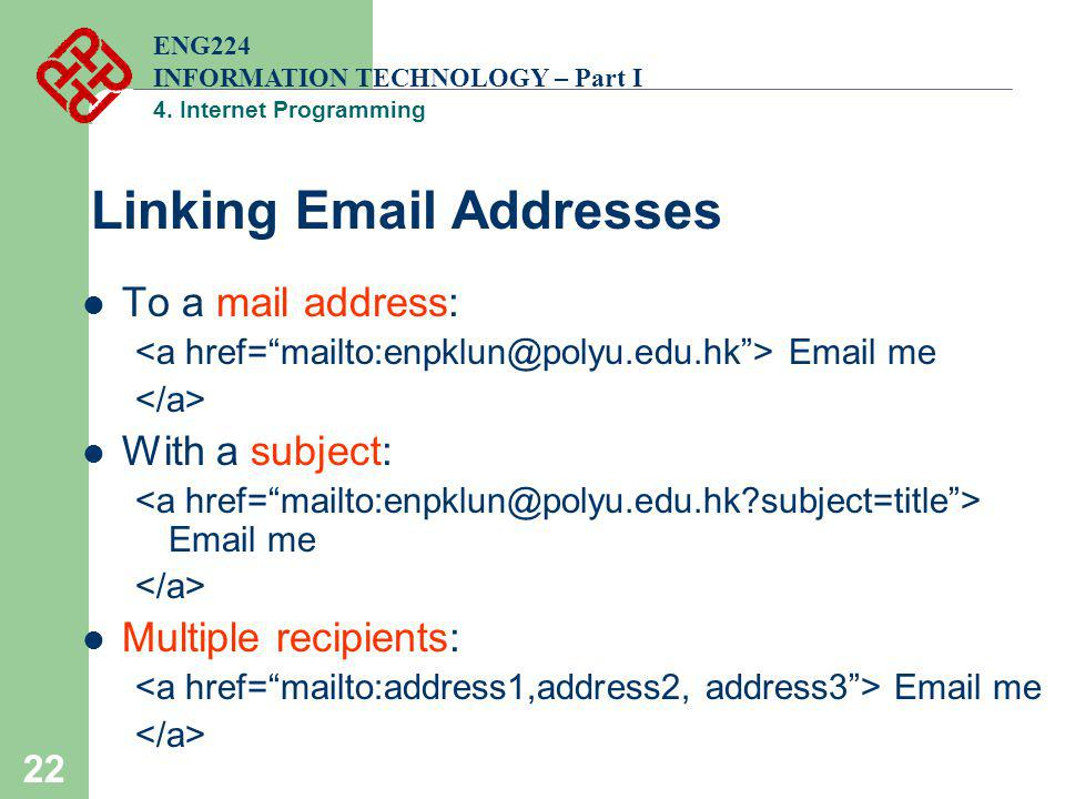 Linking Email Addresses