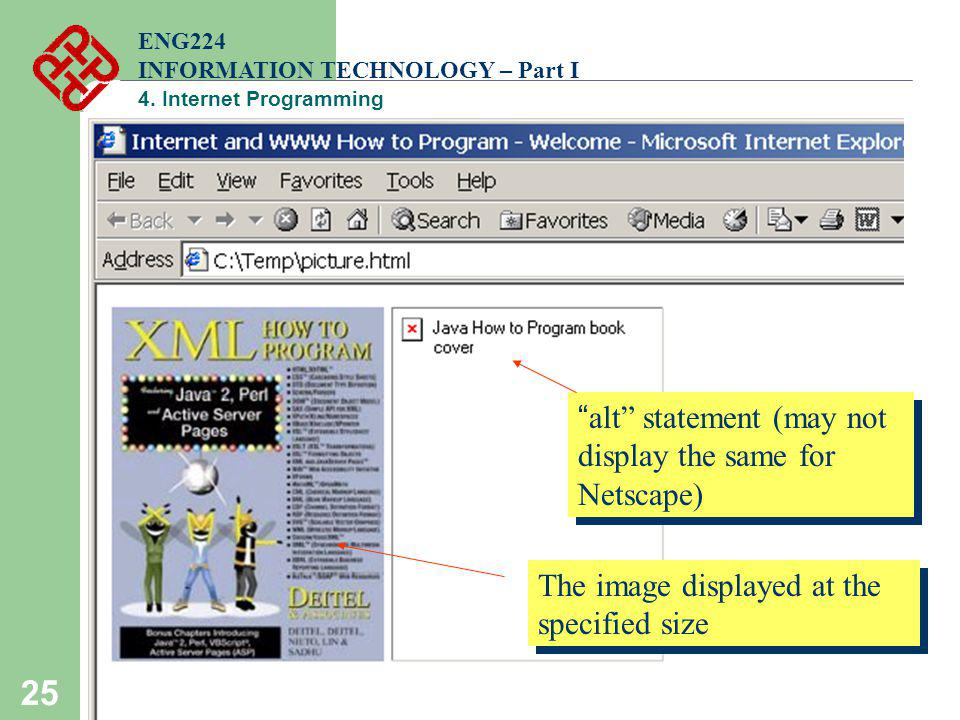 alt statement (may not display the same for Netscape)