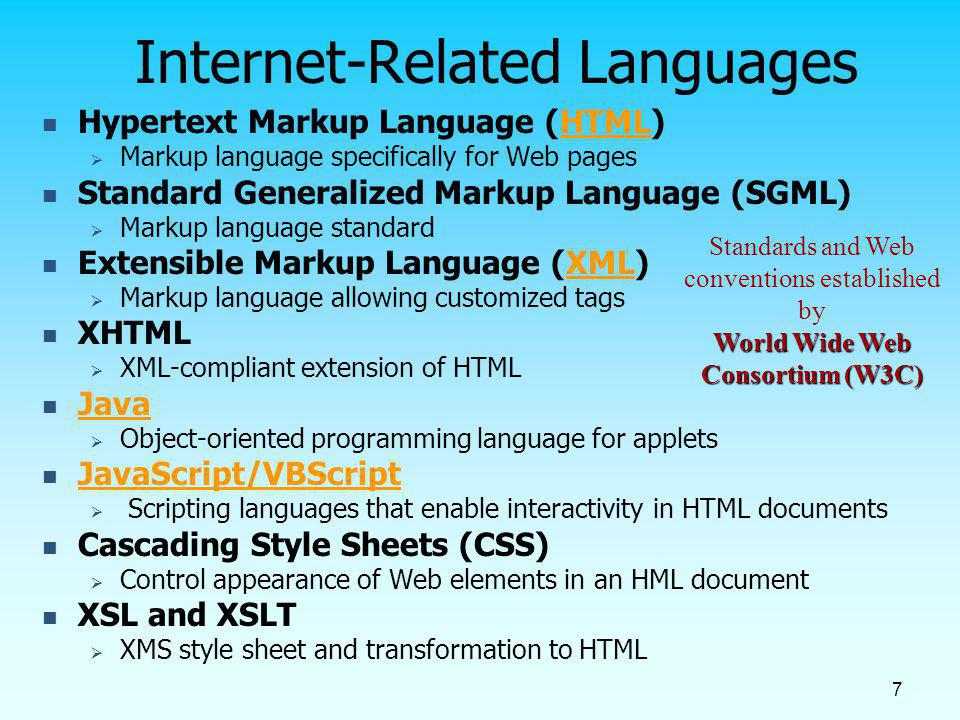 Internet-Related Languages