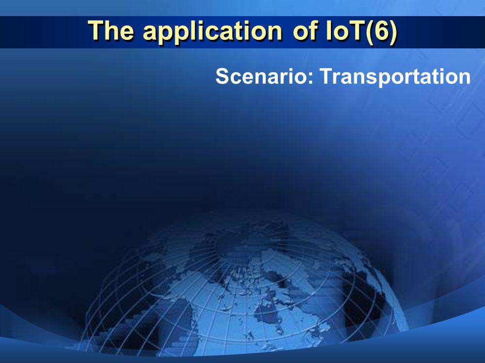 The application of IoT(6)