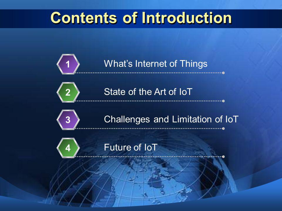 Contents of Introduction