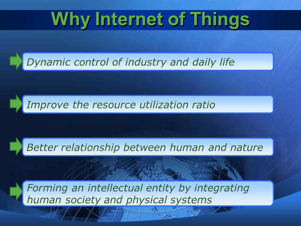 Why Internet of Things Dynamic control of industry and daily life