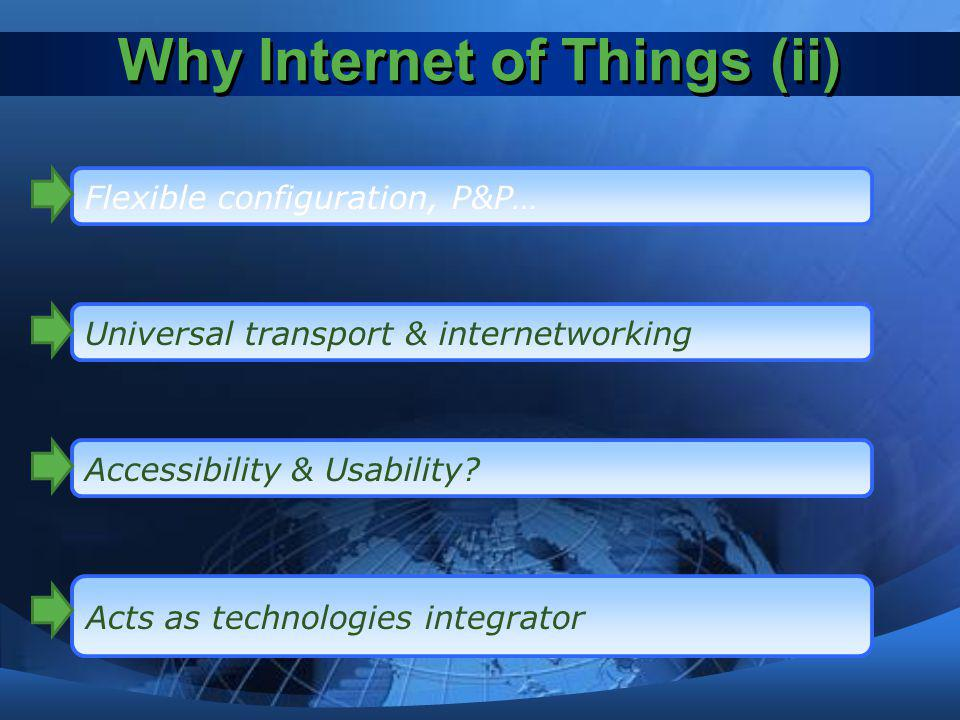 Why Internet of Things (ii)