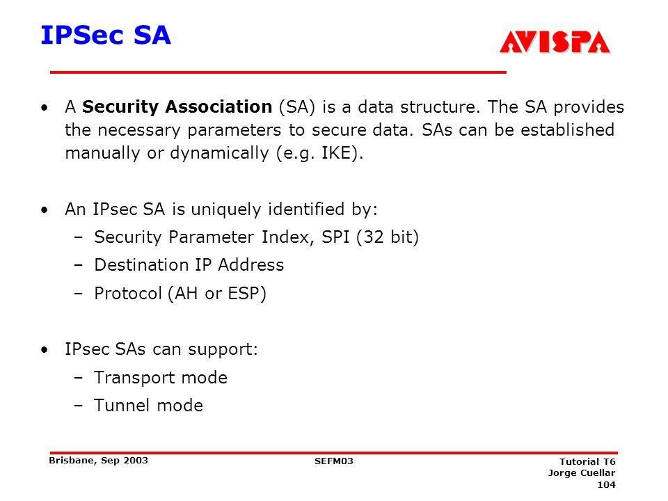 How to establish IPSec Security Associations