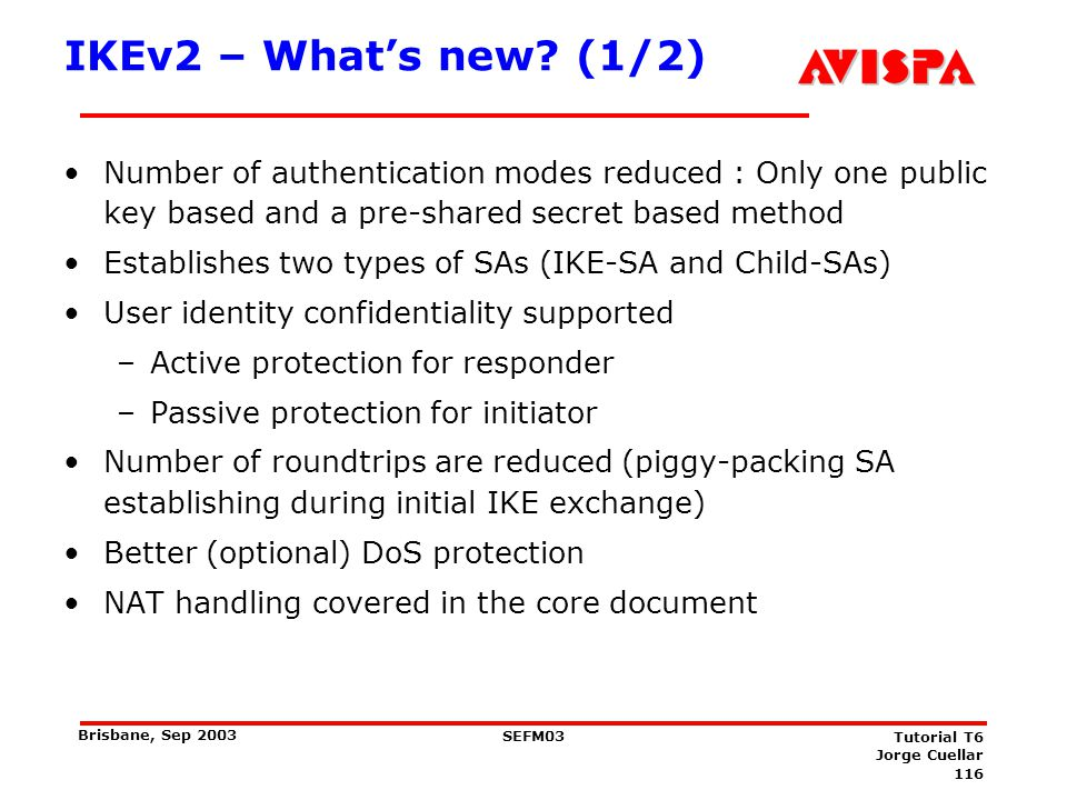 IKEv2 – What's new (2/2)