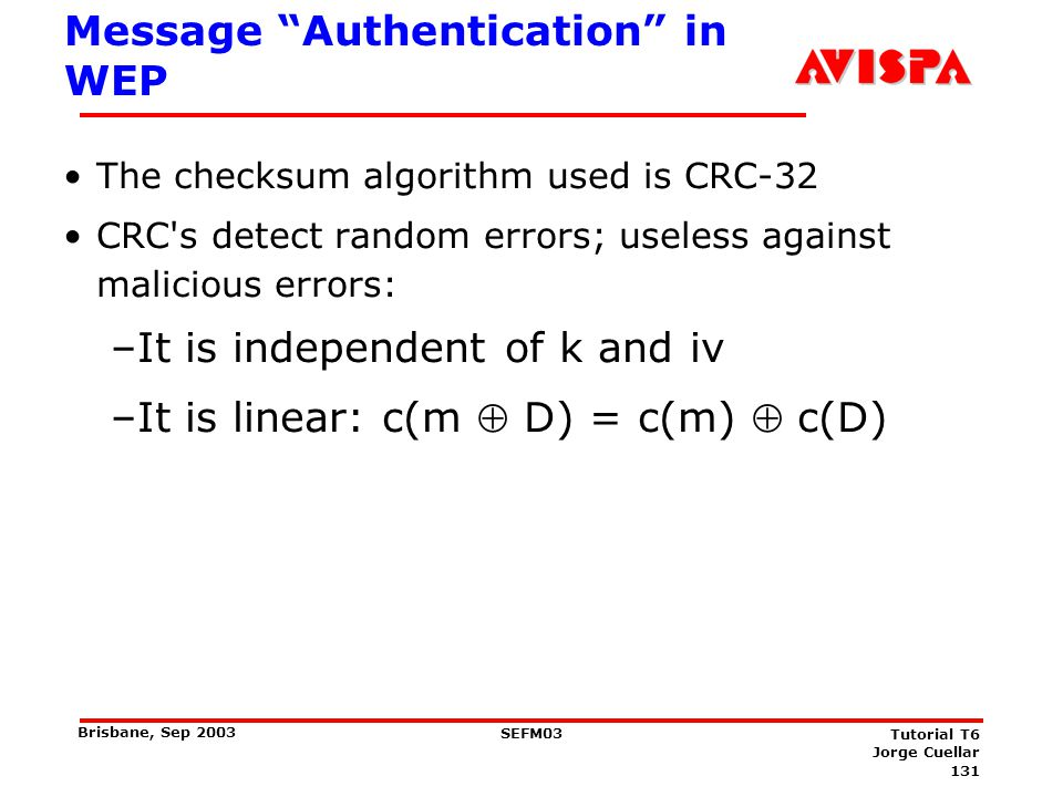 Message Modification Assume IV and C are known to intruder .