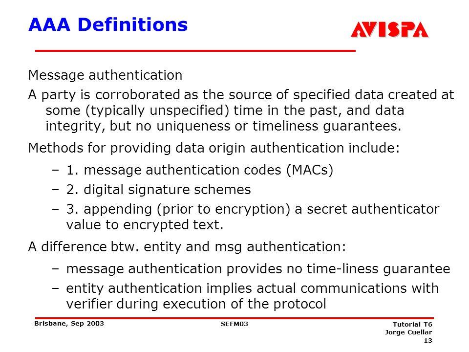 AAA Definitions Authorization