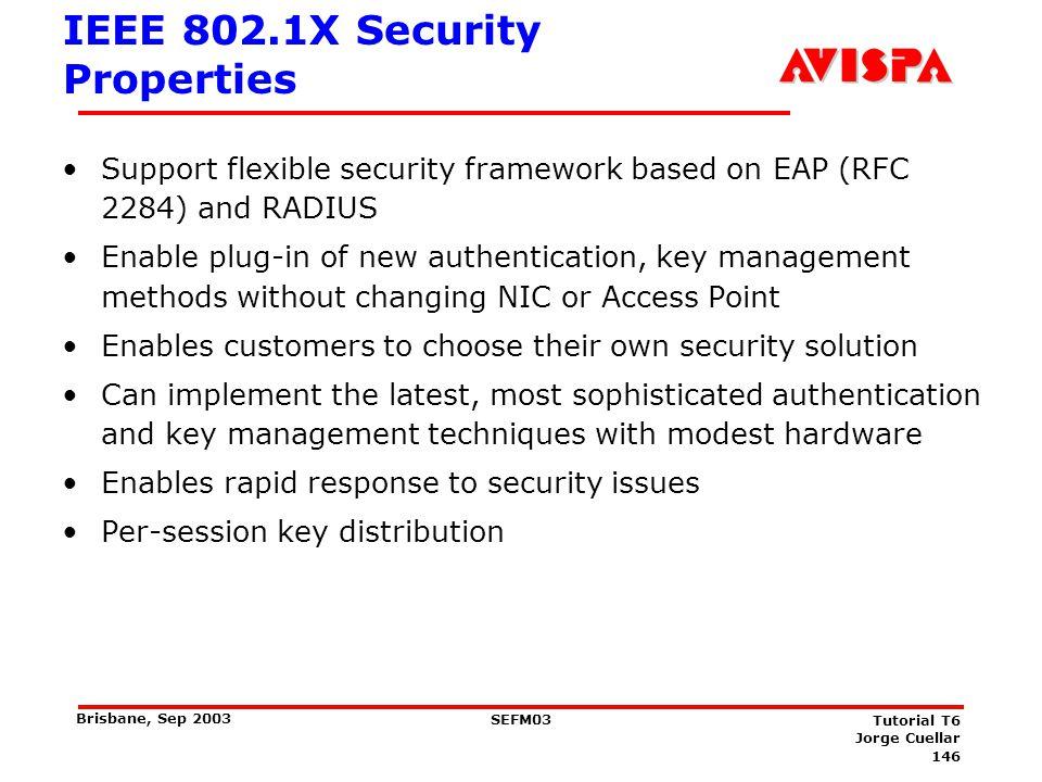 IEEE 802.1X Security Properties